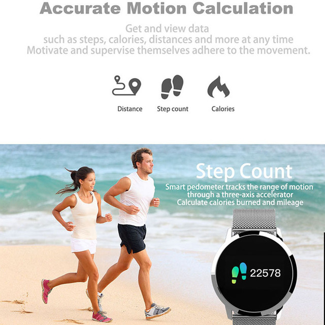 Bracelet Color Blood Oxygen Heart Rate Monitor Bluetooth Smart Watch 2
