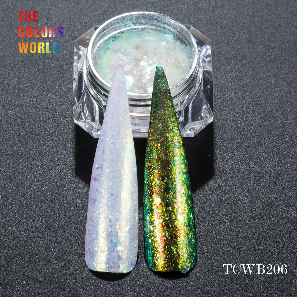 TCWB206 Chameleon Flakes Magic Effect Flakes large size chameleon for nail Art nail polish and other DIY decoration корм tetra tetramin xl flakes complete food for larger tropical fish крупные хлопья для больших тропических рыб 10л 769946
