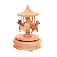 1 Pc Music Box Lovely Classical Desktop Ornament For Living Room Bedroom Decoration Crafts Figurines Miniatures