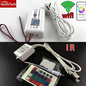 HochiTech kontroler IR kontroler Wifi telefon App dla samochodów RGB anioł oczy motocykl RGB LED światła dom taśma oświetleniowa RGB tanie i dobre opinie Poliuretanowa Emaliowane Drutu 0 2-15A 2W-25W for bmw honda nissan audi ford