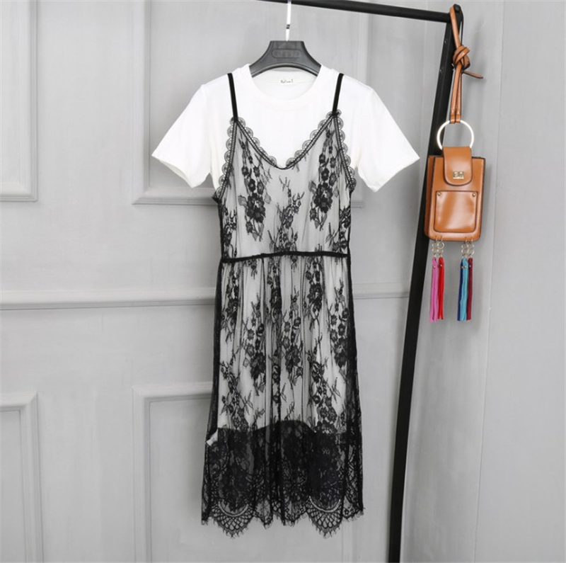 Spring Summer Women Sexy Mesh Lace Spaghetti Strap Dress 2018 Casual Beach Club Boho Sleeveless Bodycon Transparent  Dress 403