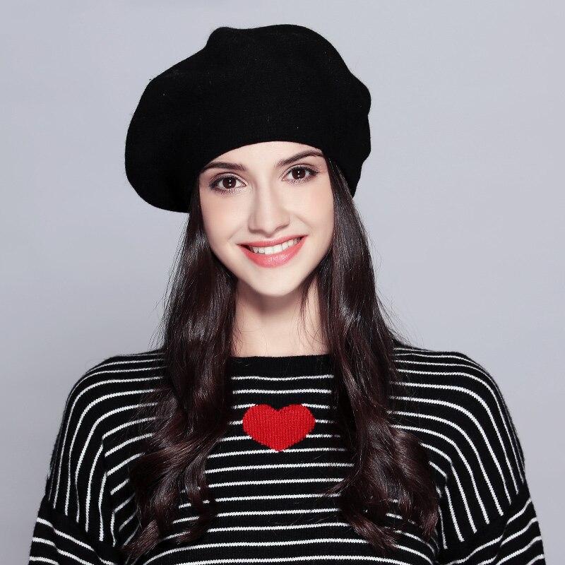 Женский берет модная шляпа для зимы женские вязаные хлопковые шерстяные шапки шапка осеньняя брендовые новые женские головные уборы# MZ729