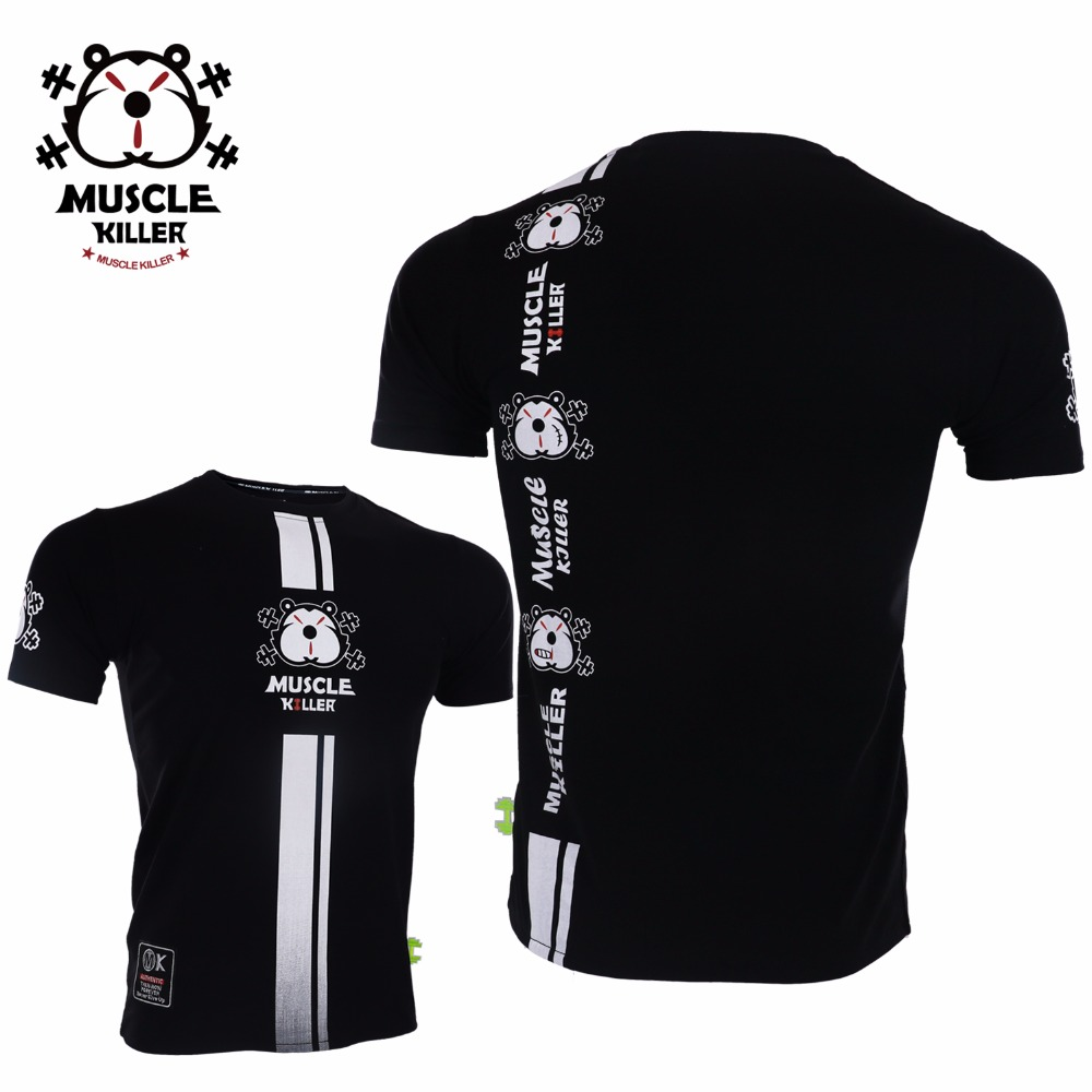 Muscle Killer Marks The Evolution Of Short Sleeve Fitness For Men Short Sleeve Men Popular Logo Slimming Summer Training Clothes