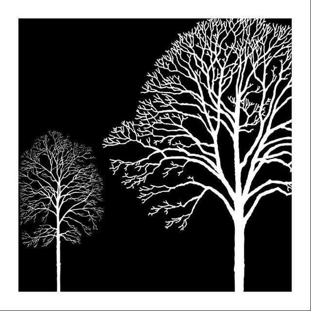 Free Shipping Black White And Red Tree Modern Wall Art Oil Painting