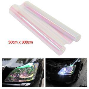VORCOOL 30*300CM Chameleon Tint Vinyl Film Self-adhesive Clear Car Van Headlights Tail Lights Fog Lights Car Film Stickers