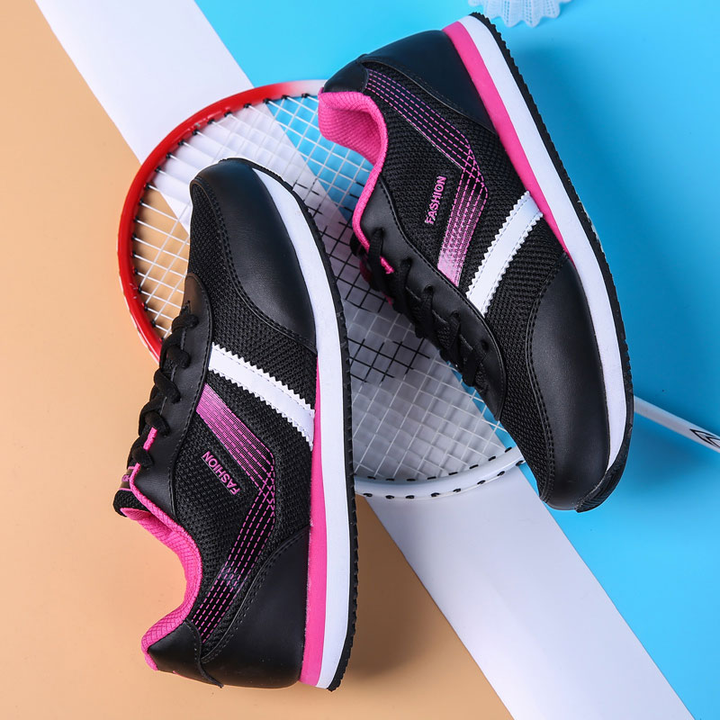 MWY Summer Ladies Breathable Mesh Leather Casual Shoes Fashion Comfortable Outdoor Walking Women's Sneakers Shoes tenis feminino недорго, оригинальная цена