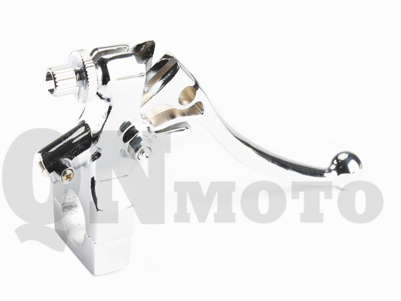 1 Pcs  7/8 Left Handlebar Chrome Hand Control Reservoir Brake Clutch Levers For Most of the Motorcycle with 7/8 Bars bars брюки 7 8
