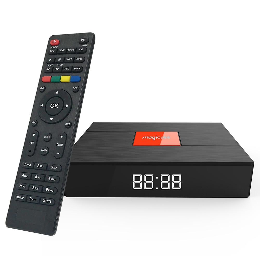 Magicsee C400 Plus Amlogic S912 Octa Core TV Box 3 + 32 gb Android 4 k Smart TV Box DVB-S2 DVB-T2 Câble Double WiFi Smart Media Player