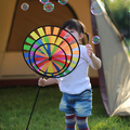 Suministro de Diseño Único de La Manera Del Arco Iris Colorido Juguete Molino de viento para Niños Acampar Al Aire Libre Jardín Decoración de Productos Promocionales