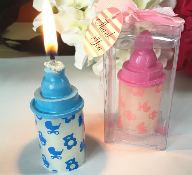Itu0027s A Girl Baby Shower Decoration Kits Small Size Pink Baby Bottle Candle  Shower Favor Gift