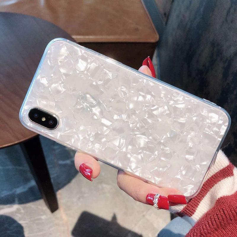 Tfshining Lovely Glitter Conch Pattern Phone Case For iPhone XS Max X XR 6 6s 7 8 Plus Fashion Soft Shell Protective Case Cover (6)