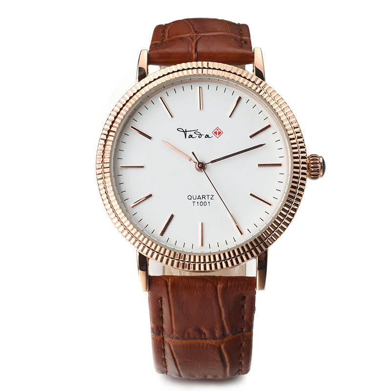 цены 2018 New tada brand women fashion watch simple dial classic genuine leather strap japan quartz movt men waterproof wristwatch