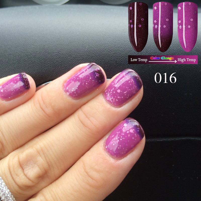 KCE Brand New Product Gel Nail Polish Temperature Change Nail Color ...