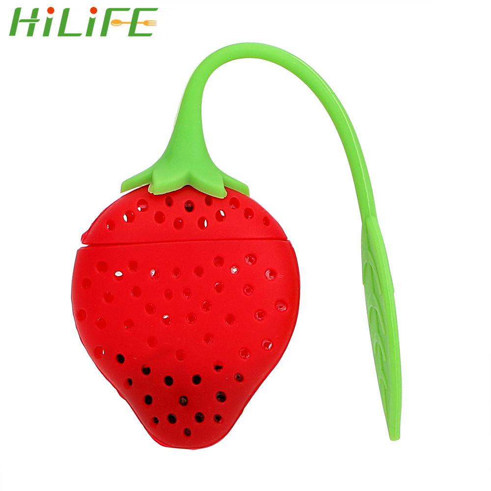 HILIFE Herbal Spice Filter Tools Silicone Strawberry Diffuser Candy Filter Bag Tea Leaf Strainer High Temperature Resistance