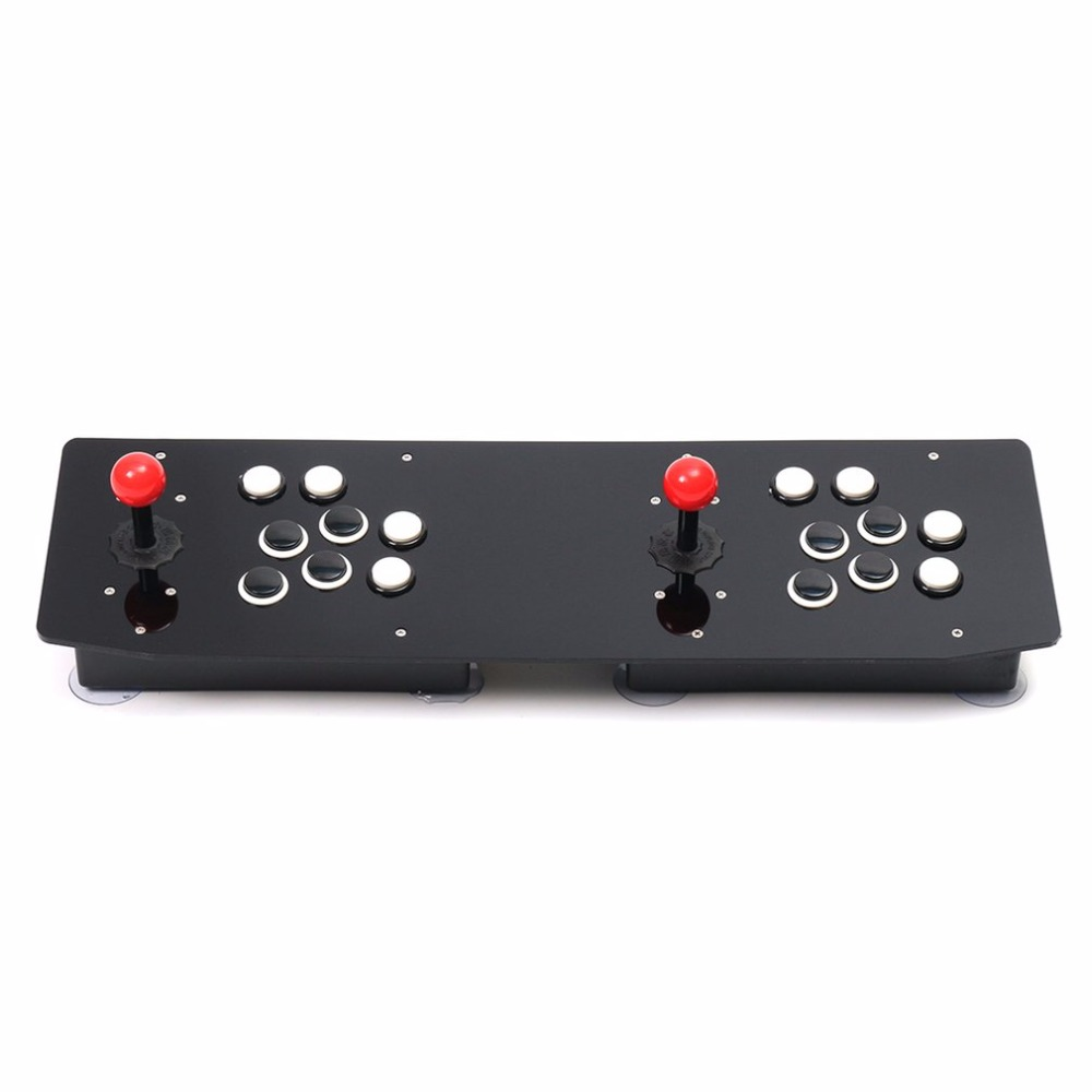 Ergonomic Design Double Arcade Stick Video Game Joystick Controller Gamepad For Windows PC Enjoy Fun Game xunbeifang 2pcs for nes30 wireless bluetooth game controller gamepad bluetooth arcade game stick joystick for ios for android