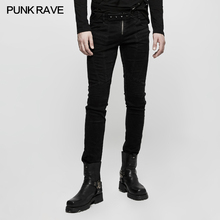 Новое поступление Панк рейв готический черный мужской рок крутой визуальный kei представление длинные брюки K300