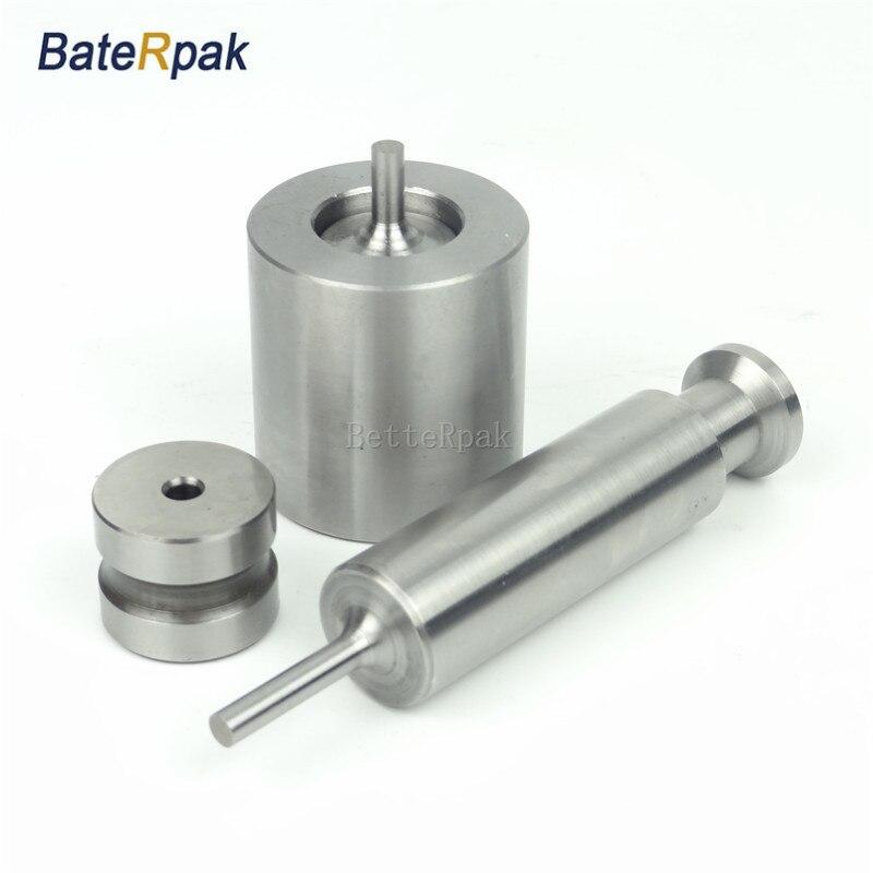 Manual Powder Molding Die Set Laboratory Tablet Sample Press Die Circlar Round Flat Die Mold Press