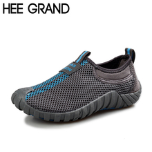 HEE GRAND Lovers Casual Shoes Men Breathable Loafers Fashion Mesh Shoes Man Slip On Platform Flats Summer Size 35-44 XYP007