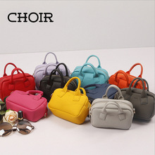 Choir Candy Color Women Leather Mini Shoulder Phone Bag Crossbody Small Chain Purse For Girls Kids Clutch Top-handle Bags Sac