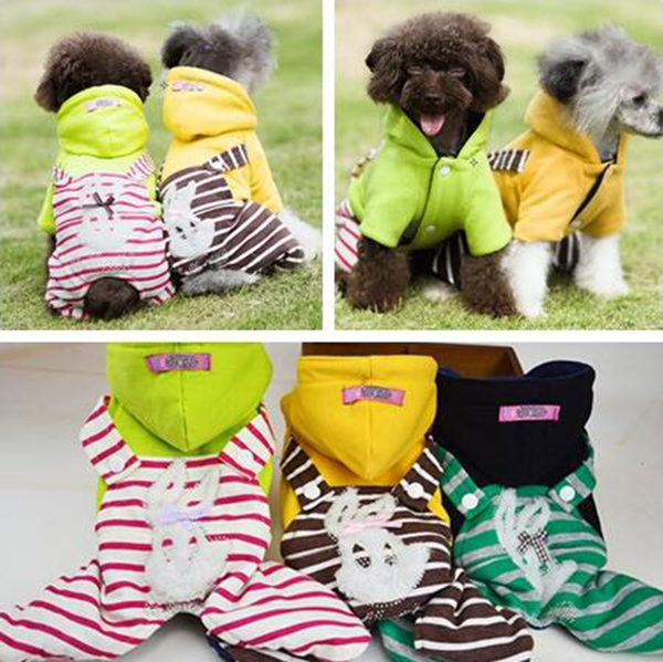 Autumn winter new dogs cats warm soft tracksuits apparel doggy fashion jumpsuits clothes puppy outwear pet dog suit 1pcs XS-XL