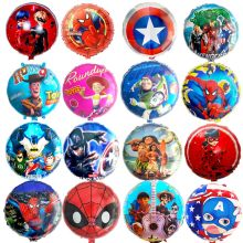 Lucky 1pcs 18inch Cartoon Spiderman Avengers Heros Minion Mickey Party Supplies Ladybug Foil Helium Balloon Party Decorations(China)