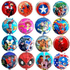 Helium-Balloon Ladybug Spiderman Party-Decorations Foil Avengers Minion Mickey Heros