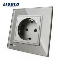 Livolo EU Standard Power Socket AC 110 250V 16A Wall Power Socket VL C7C1EU 15 Grey