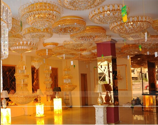 Continental Restaurant Hotel Villa living room lamp creative personality Nordic American K9 crystal chandelier rectangular