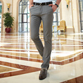 Office Work Mens Chino Pants Full Length Cotton Summer Casual Pants Men Khaki Black Straight Dress Pants
