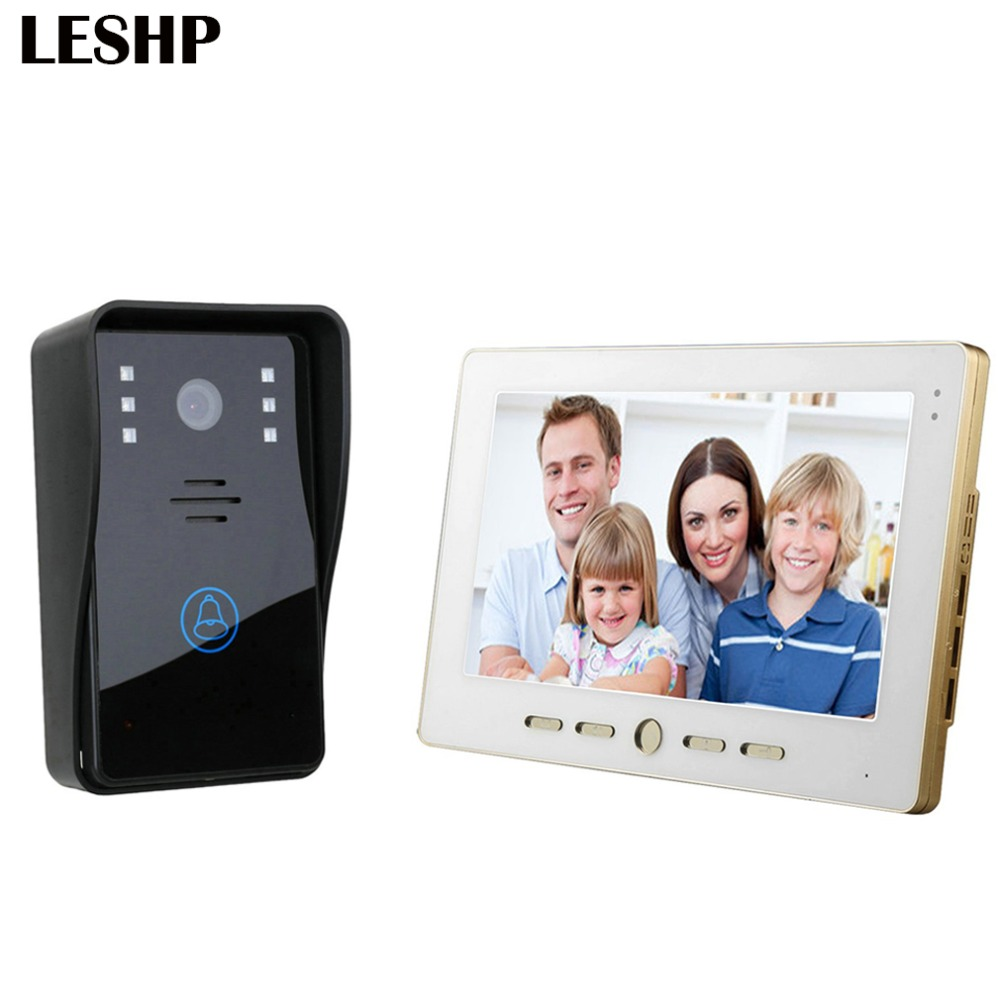 10 inch Video Door Phone Intercom Doorbell Touch Button Remote Unlock Night Vision Security CCTV Camera Home Surveillance