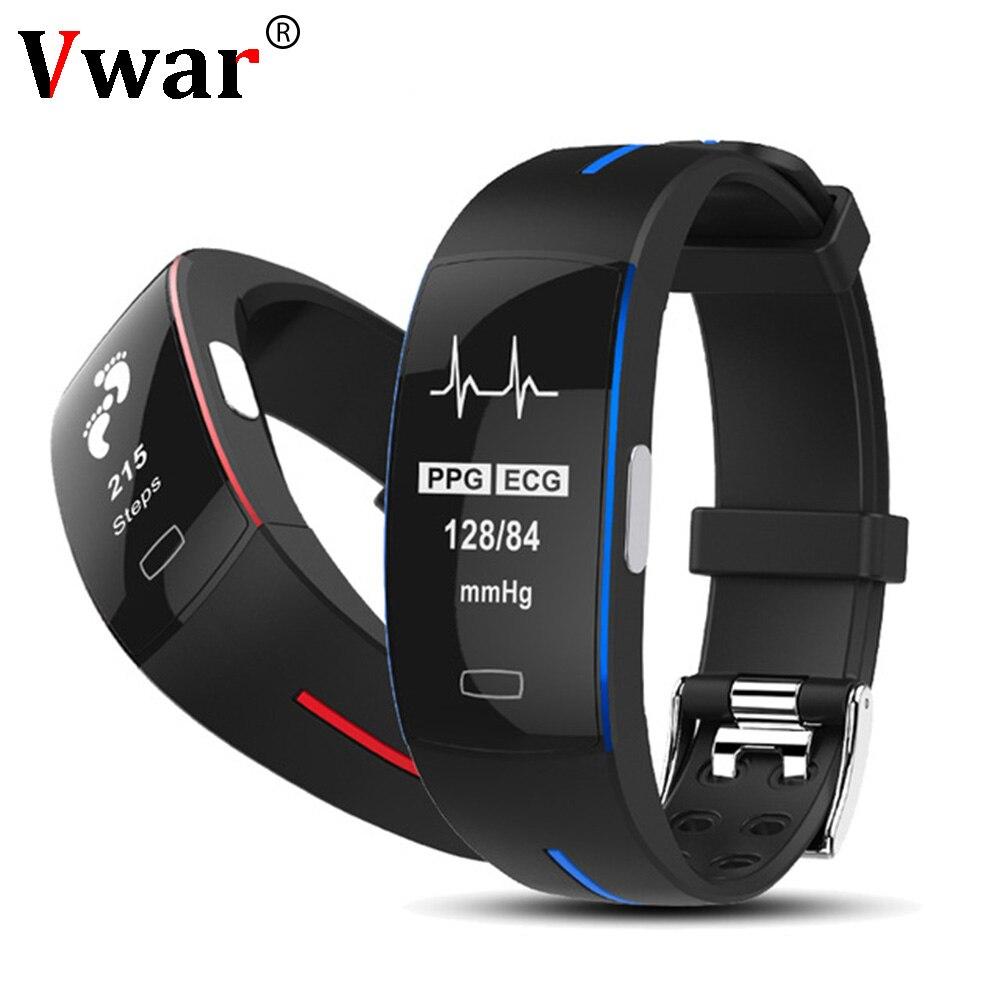 Vwar H66 трекер крови Давление часы пульсометр часы ЭКГ Smart Сердечного ритма Фитнес браслет P3 для Xiomi honor 3