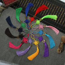 100 Pcs Polyester Chinese Knots Knotting Lucky Amulet Copper Coin Tassel Gifts Fringe Trim Pendant Decoration for Home