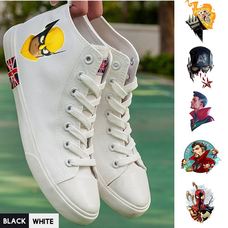 Delightful Colors And Exquisite Workmanship Novel Designs Marvel Movie Superhero Comic Hero Spider-man/captain/doctor/ghost Rider High Top Canvas Uppers Sneakers College Fashion A193291 Famous For Selected Materials