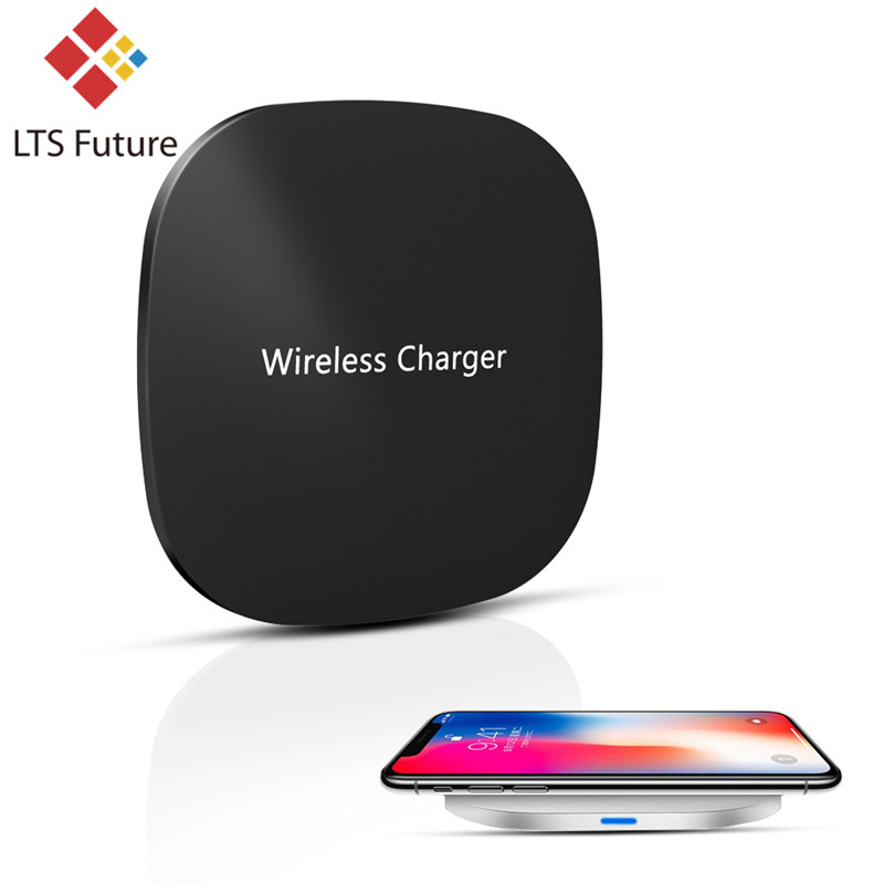 For IPhone X 8 Plus Qi Wireless Charger Quick Charge Base For Samsung S9 S8 S7 Fast Wireless Charger Charging Pad Dock Desk Thin
