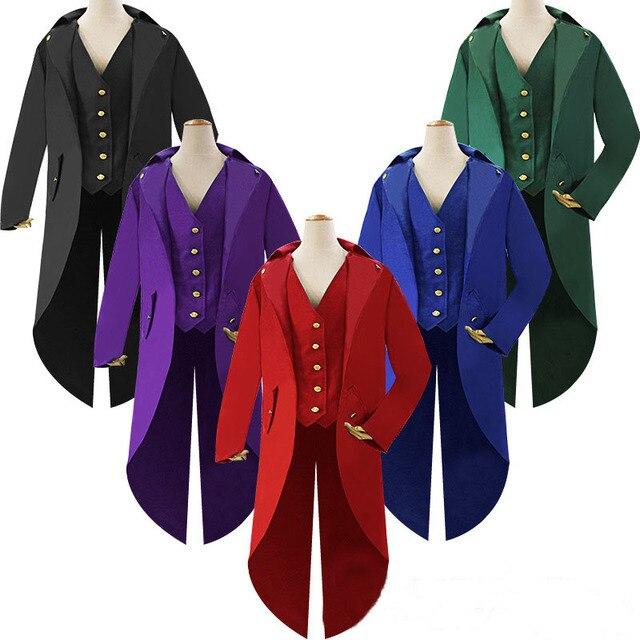 Men S 18th Century Steampunk Suit Jacket Medieval Historical
