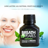 Hot Product Breath Pearls Natural 50Cap The Breath Freshener You Swallow LONG LASTING ALL NATURAL FIGHTS
