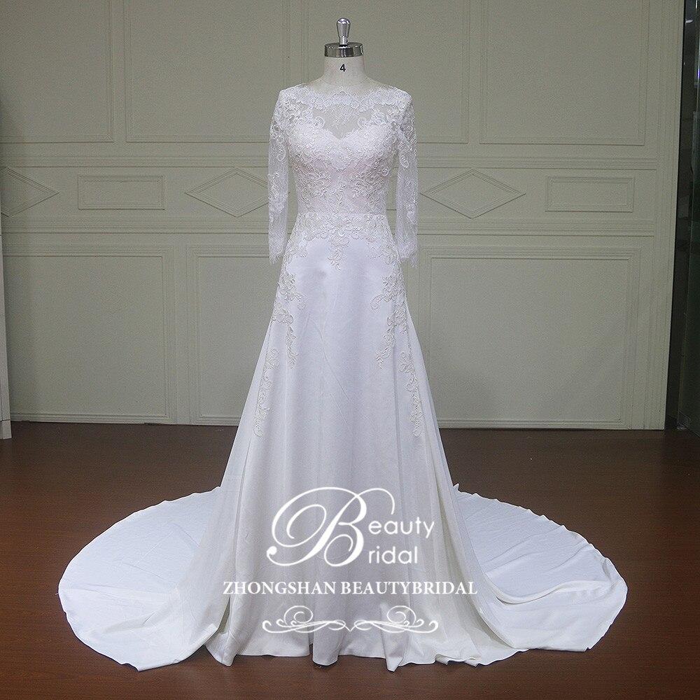 Elegnt Custom Made Mermaid Wedding Dresses Lace Beach Floor-length Bridal Gowns Vestido De Novias Wedding Dress XFM011