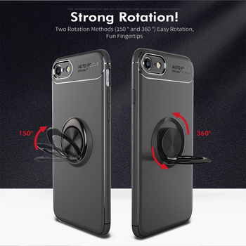 For iphone 5 5S 6 6S 7 8 Case Fashion business With finger ring Magnetism Holder Phone Back Cover For iphone 6 6S 7 8 Plus coque