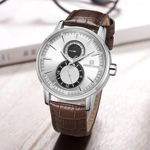 Image 4 - 2018 New Men Watch NAVIFORCE Top Brand Luxury Mens Quartz Date Clock Male Leather Business Sport Watches Relogio Masculino