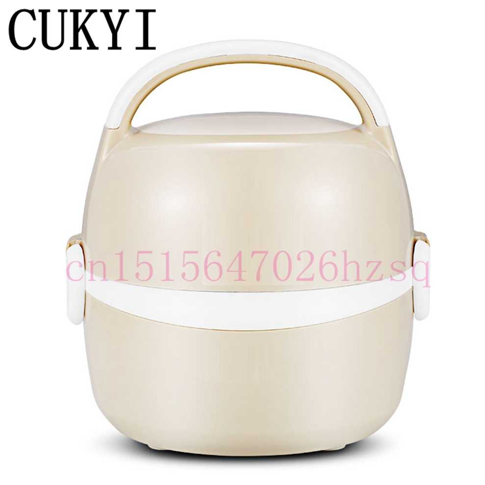 CUKYI 1.3L 200 w caixa de aquecimento Elétrico almoço caixas elétricas de aço inoxidável de dois andares caixa de almoço isolamento Térmico