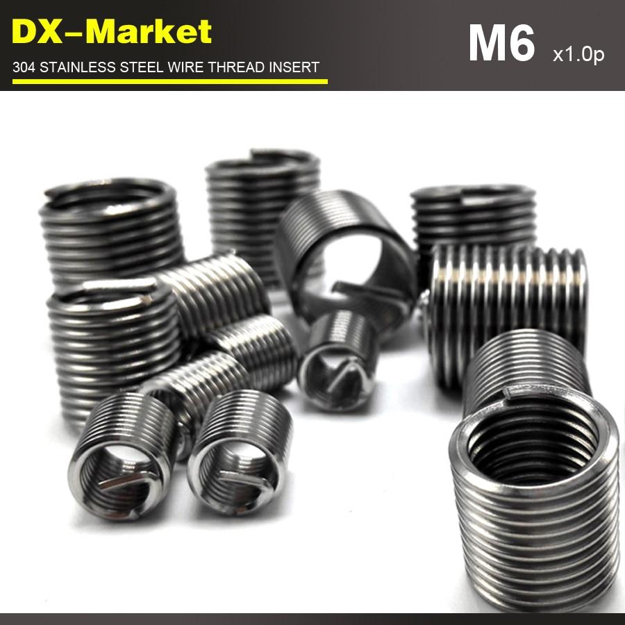 m6*3D *1.0P , 100pcs , stainless steel auto repair tools insert , 304 Engine thread repair fasteners