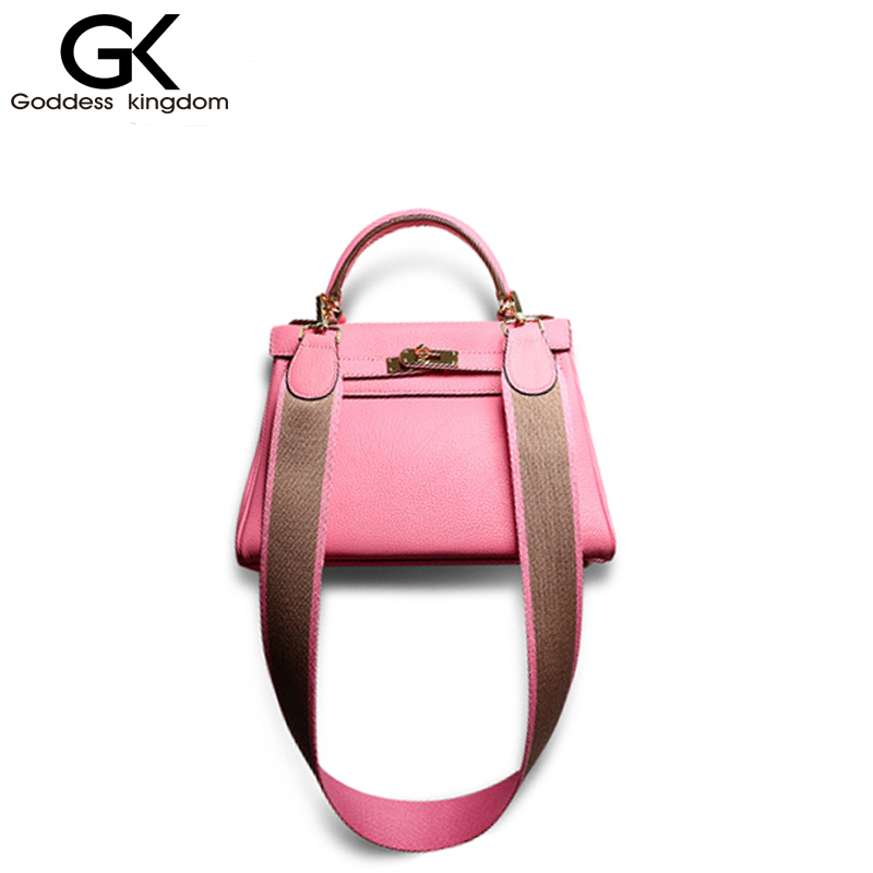 ФОТО GODDESS KINGDOM Strapper you Genuine leather handbag wome famous brand design bag shoulder bag female fashion packM1701