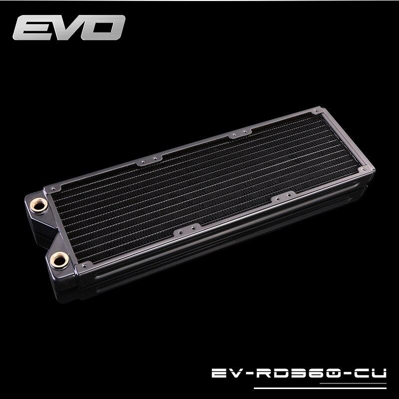 Bykski EVO EV-RD360-CU 360mm 3x120mm Copper Radiator Water Cooling bykski water cooling kit for cpu rigid tube intel amd 360mm copper radiator