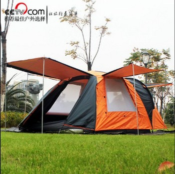 3-4 person use double layer waterproof windproof camping beach family tent 2