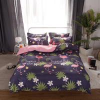 HOT sale Bedding Sets Duvet Cover3/4pcs Cartoon New fashion Bed sheets Twin Full Queen Sizes Printing tropical Love Flamingo