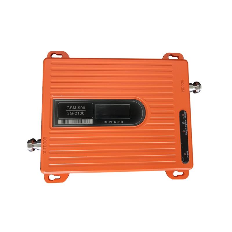 Répéteur d'amplificateur de Signal de téléphone portable de la puissance élevée 70dB double bande GSM 900 MHz wcdma 2100 MHz 3G d'affichage à cristaux liquides