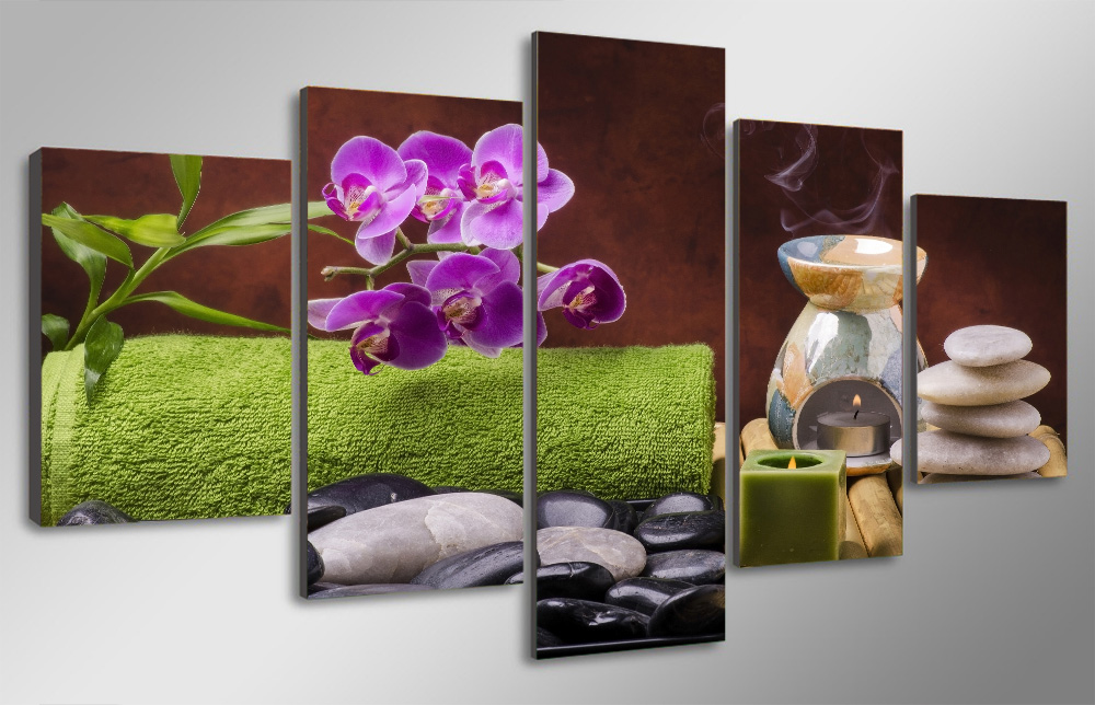 HD Printed Spa Still Life Wellness Relax Painting Canvas