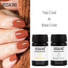 ROSALIND гель для ногтей, Новое поступление, 1 шт., базовое верхнее покрытие, аломост, безароматный Гель-лак, впитывающий УФ светодиодный Полупостоянный Гель-лак