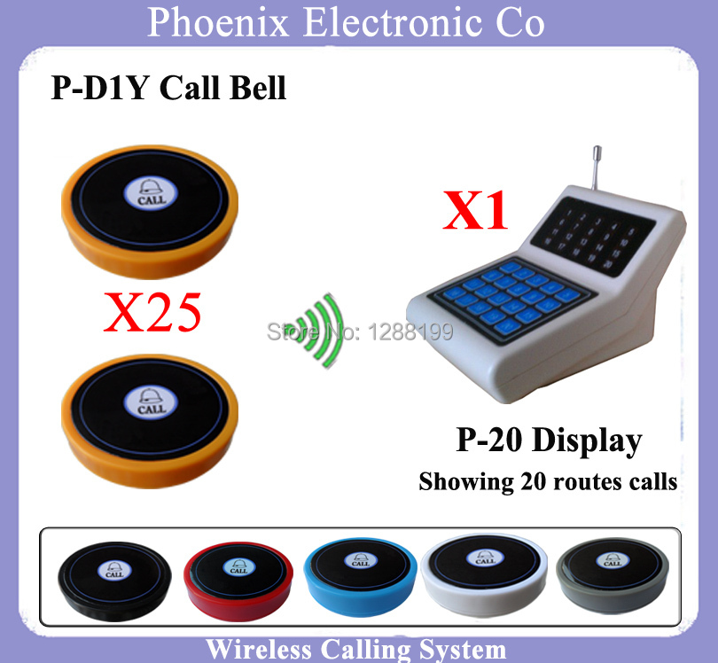 Wireless Restaurant Paging System With Waiter Call Button And Restaurant Pagers,25 Guest Bell D1 and 1 Display Screen P-20 туалетная вода louis varel туалетная вода varel nights gentleman men