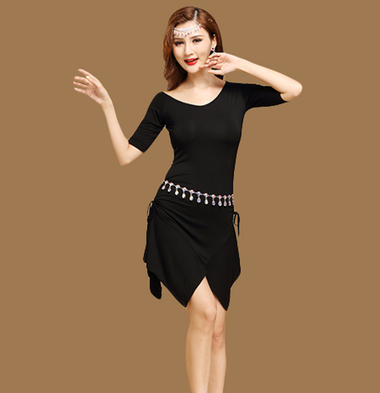 Lady Adult Belly Dance Practice Clothing Modal Women Sexy Half Sleeve Skirt Spring Summer Bellydance Stage Performance Dancewear